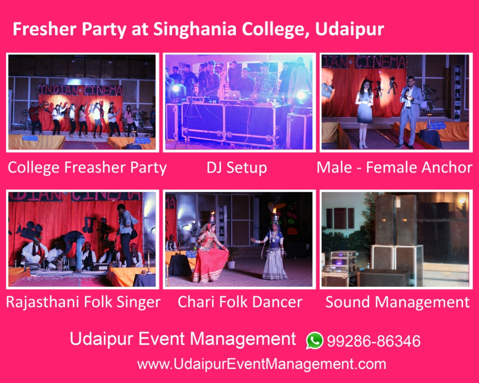 College Event Management Udaipur|Freasher Party Organizer
